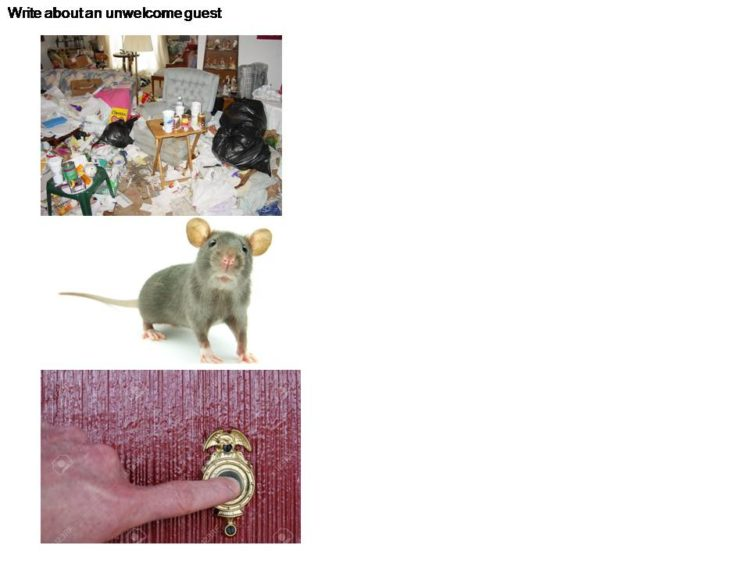 English Composition model on the theme of an Unwelcomed Guest for P5 students