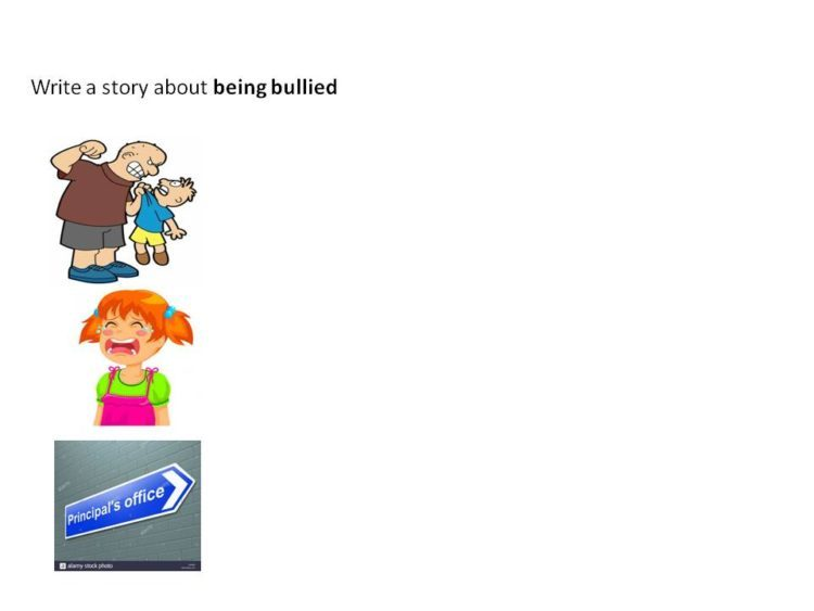picture P5 English composition model on the theme of being bullied
