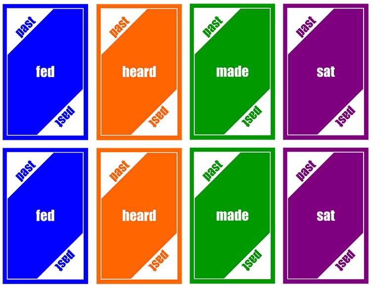 Past Tense Irregular Verbs Cards 4