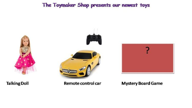 Primary 5 English SA2 Oral model: Toys