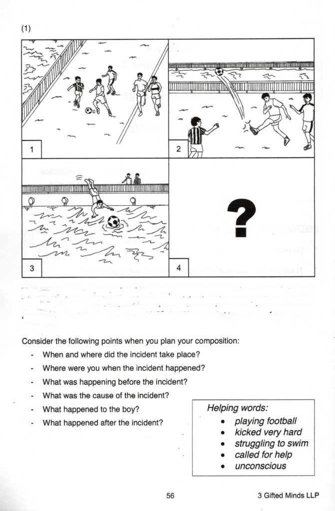 A frightening incident composition picture for primary 3 students in Singapore