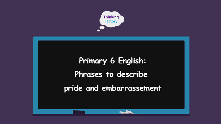 phrases to describe pride and embarrassment